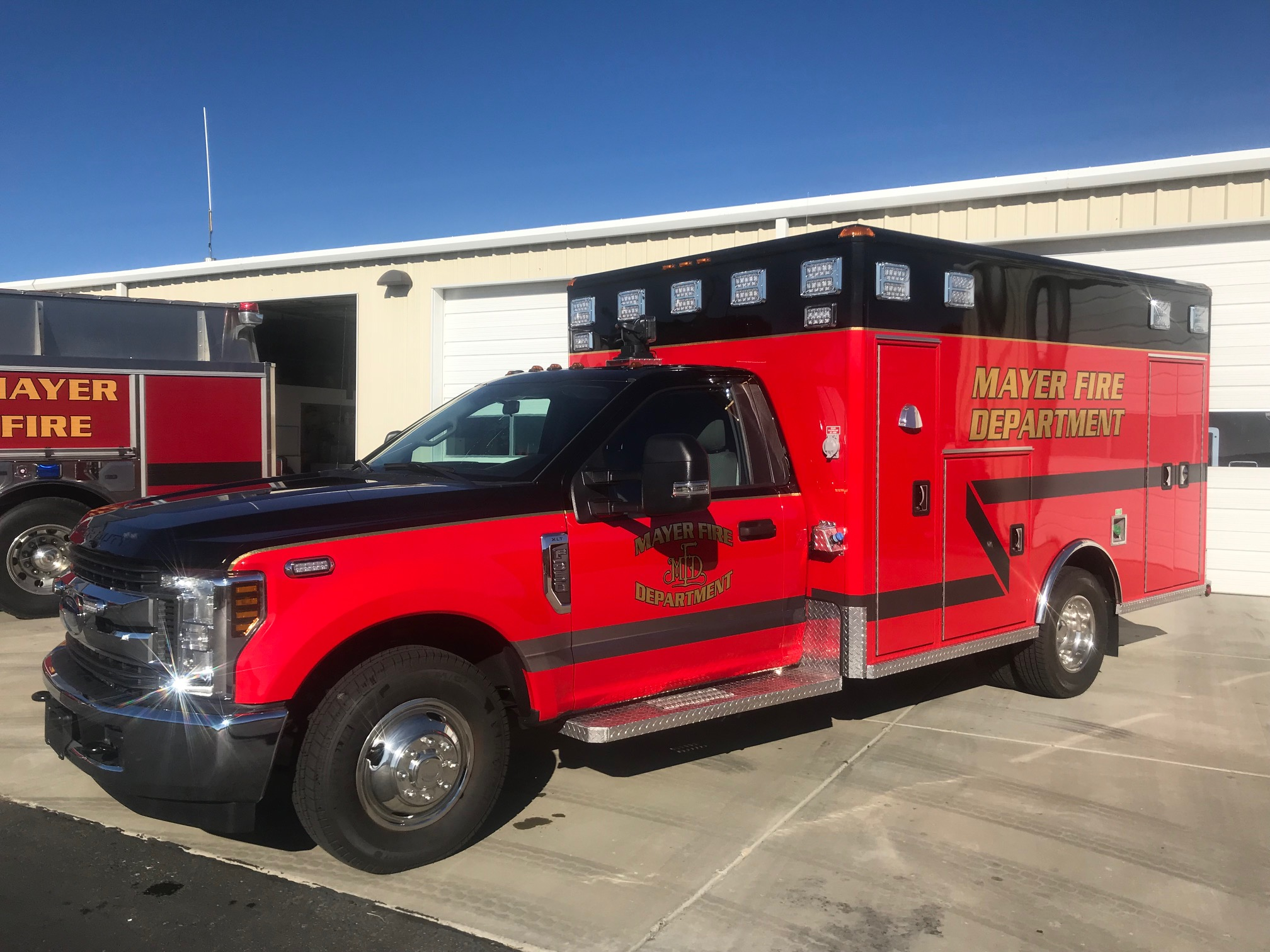 MFD takes delivery of new 2018 ambulance » Mayer Fire Department
